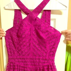 Hot pink lace mini